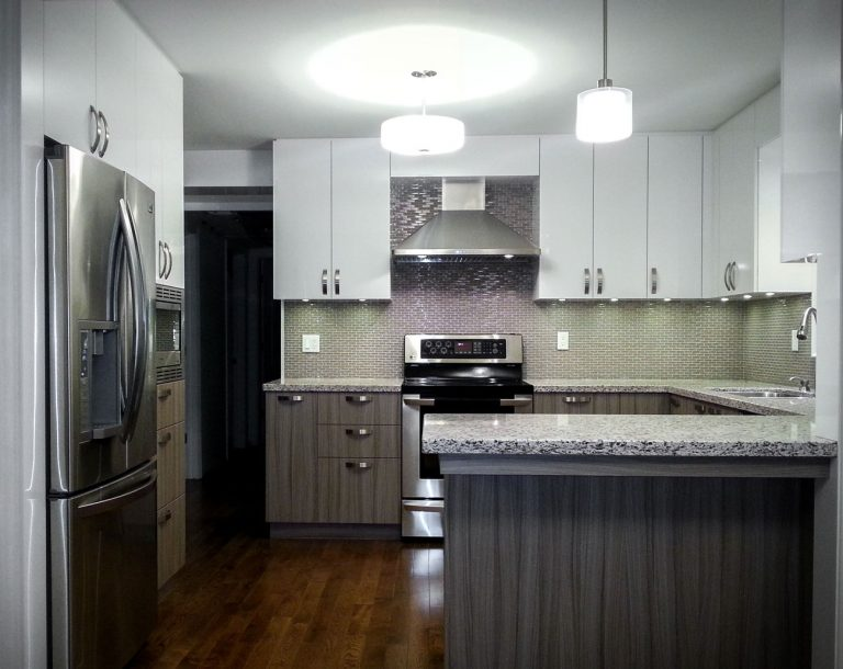 custom kitchen design with granite countertop - high end kitchen cabinets