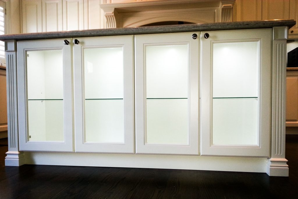 kitchen cabinets with see through glass