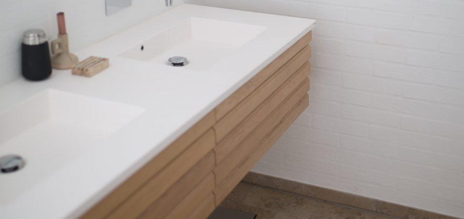 floating vanity installed