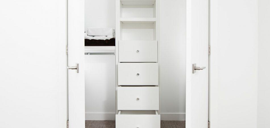 walk-in closet installed