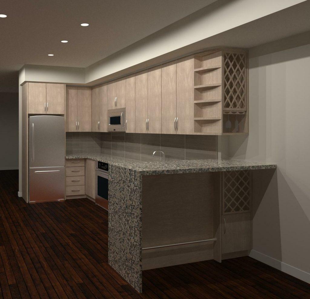L-shape kitchen design - custom kitchen design