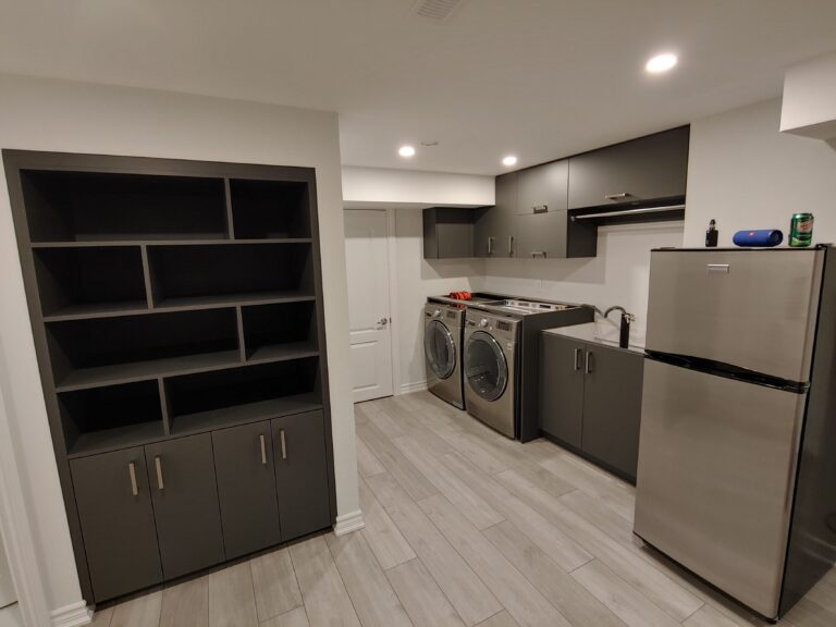 basement Laundry and Kitchen Cabinets - cabinets with storage
