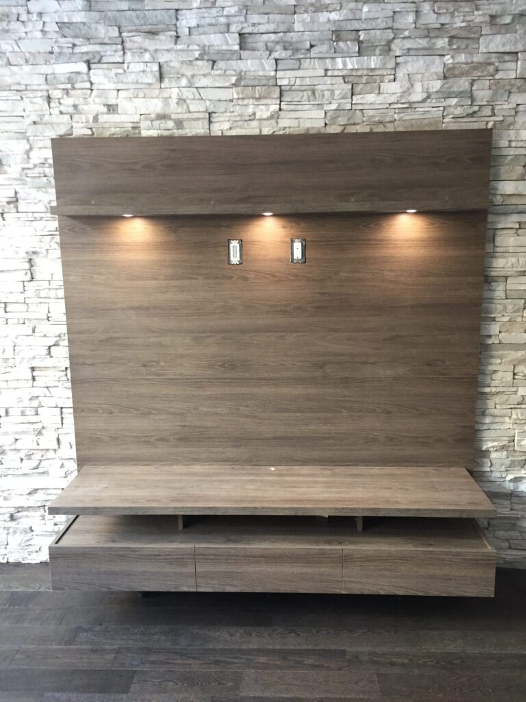small entertainment unit in custom living room by clearview kitchen