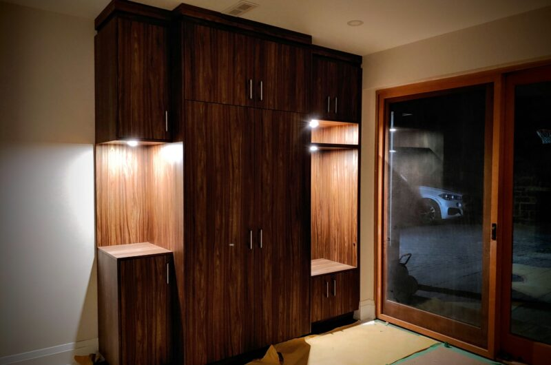 finished custom storage unit in walk out basement - cabinets for closet Toronto