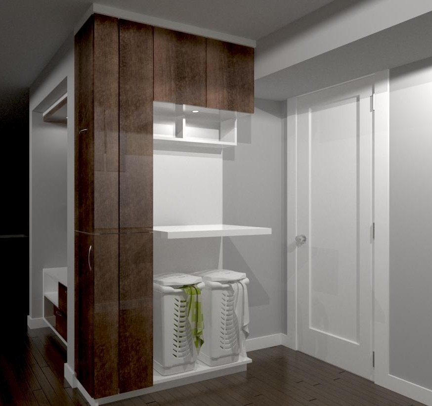 laundry room design render - cabinets designer king city
