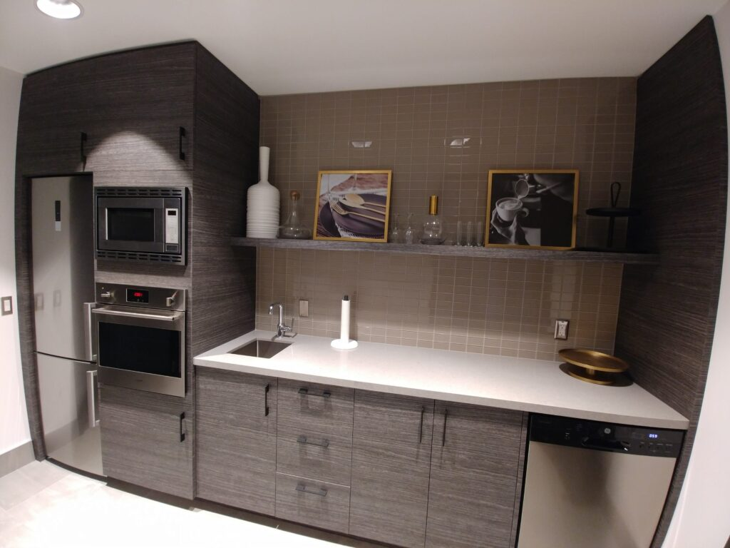 custom small kitchen in the basement - cabinets modern kitchen