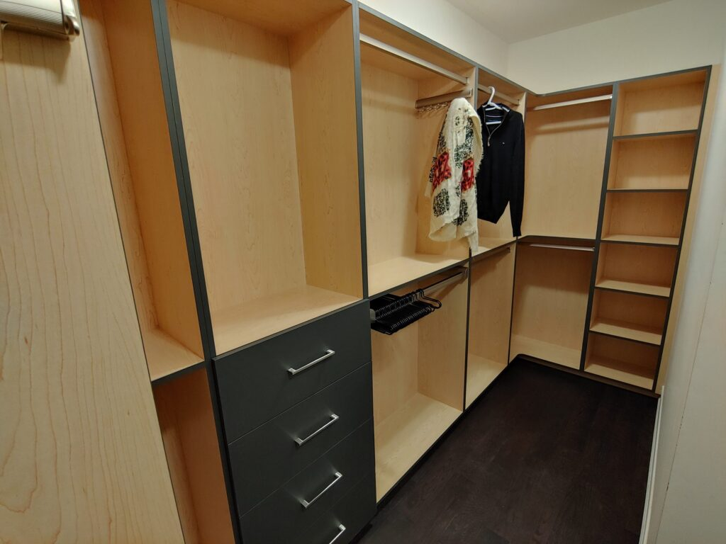 luxury wardrobe cabinet in the basement - cabinets for clothing Richmond hill