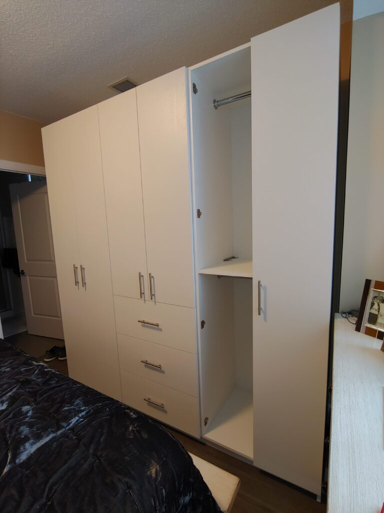 white bedroom closet - cabinets bathrooms king city