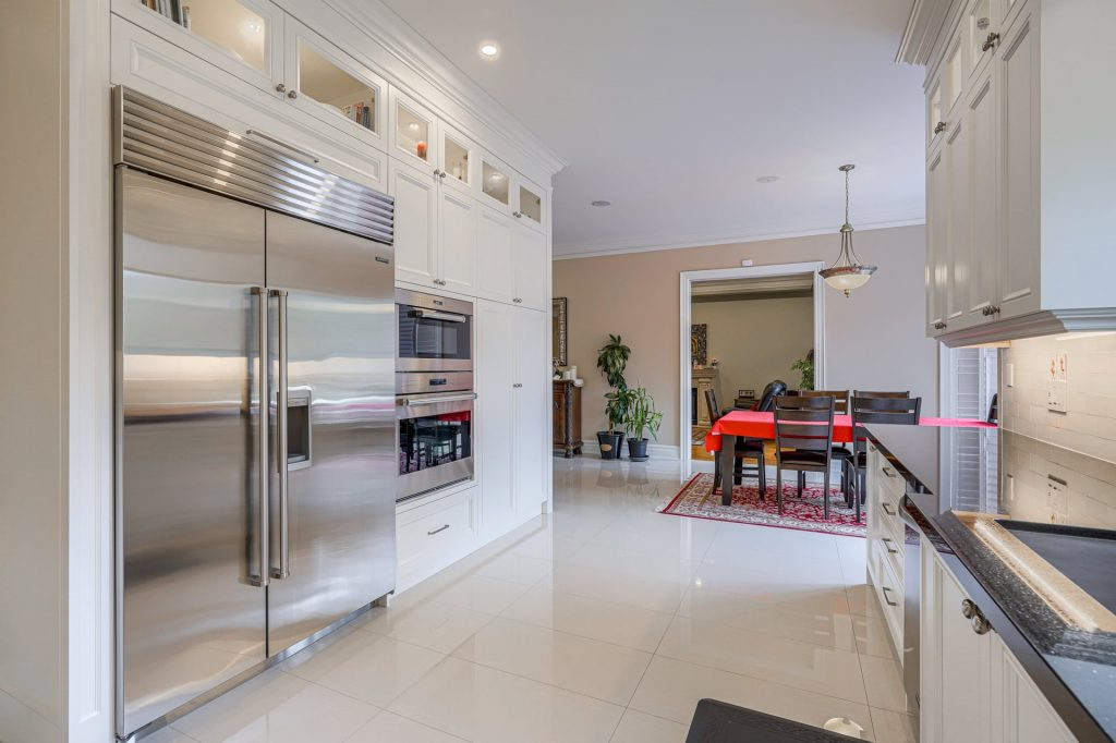 amazing open space kitchen with build in appliances - kitchen renovations toronto