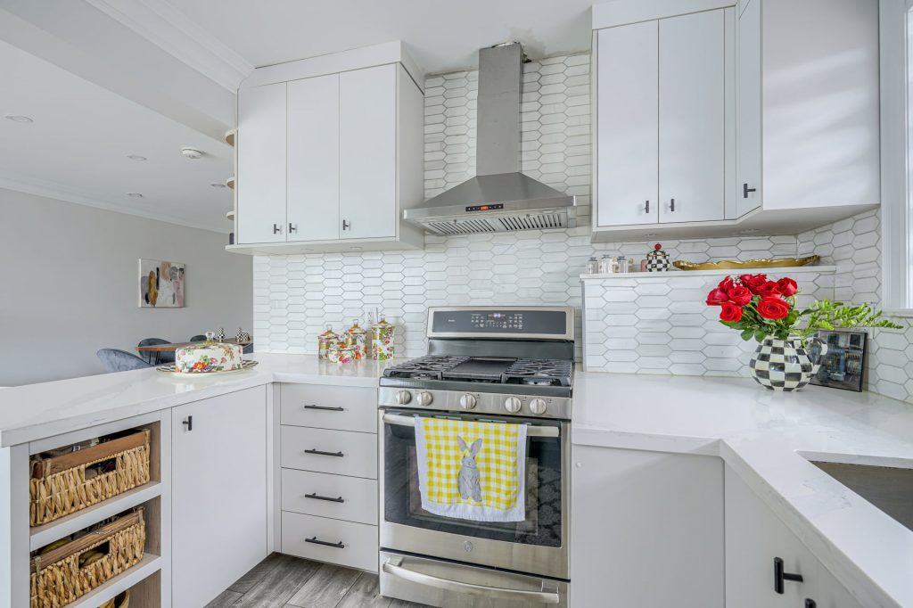 photo of amazing kitchen with potlights and white backlit kitchen cabinets – kitchen companies vaughan