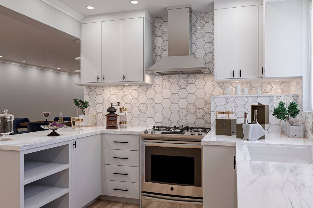 U Shaped Kitchen Render by Clear View Kitchens