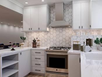 U Shaped Kitchen Render