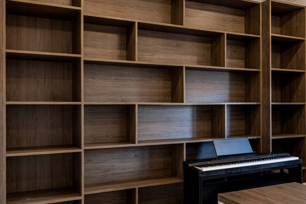 Custom Wall Unit shelves