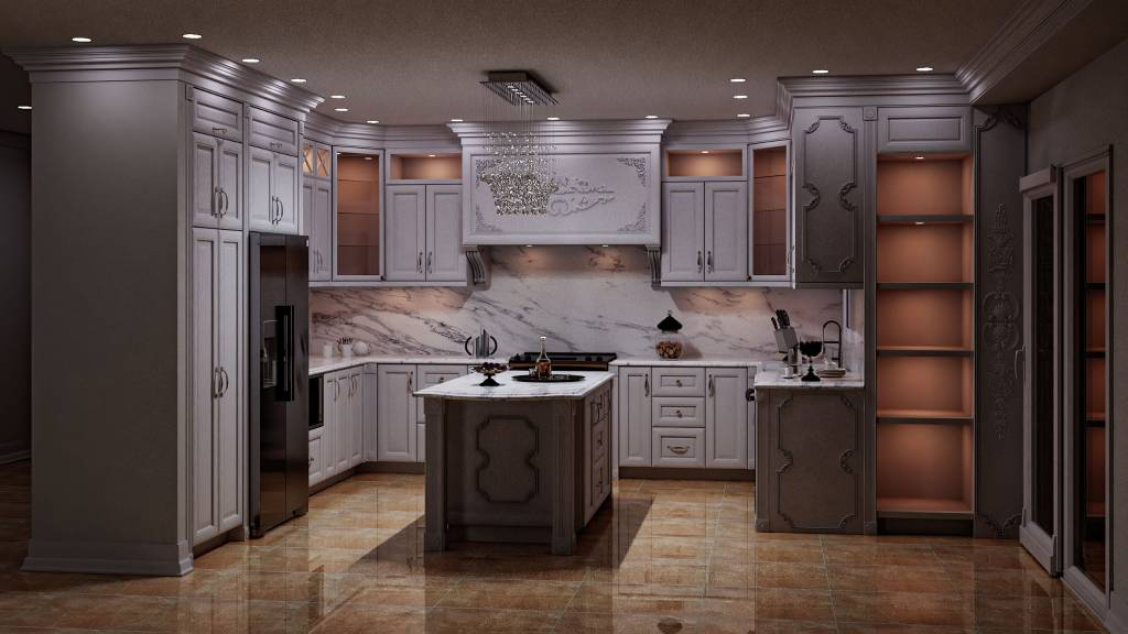 amazing classic kitchen with custom kitchen cabinets