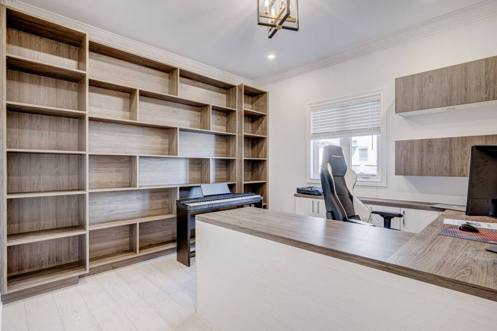 build in Custom Wall Unit in home office