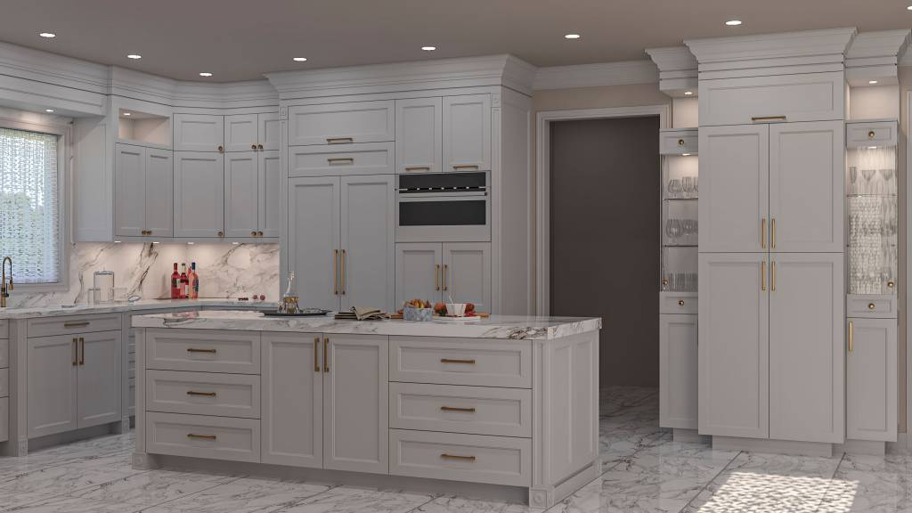 amazing kitchen cabinets with golden handles trim in custom kitchen - kitchen cabinets toronto