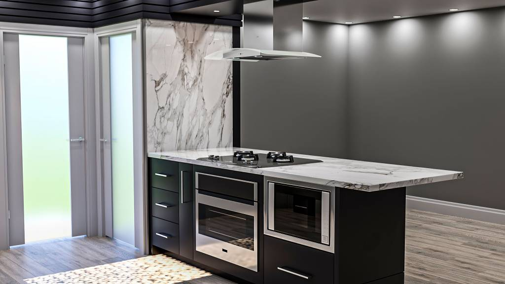 custom kitchen with build in appliances - kitchen renovators