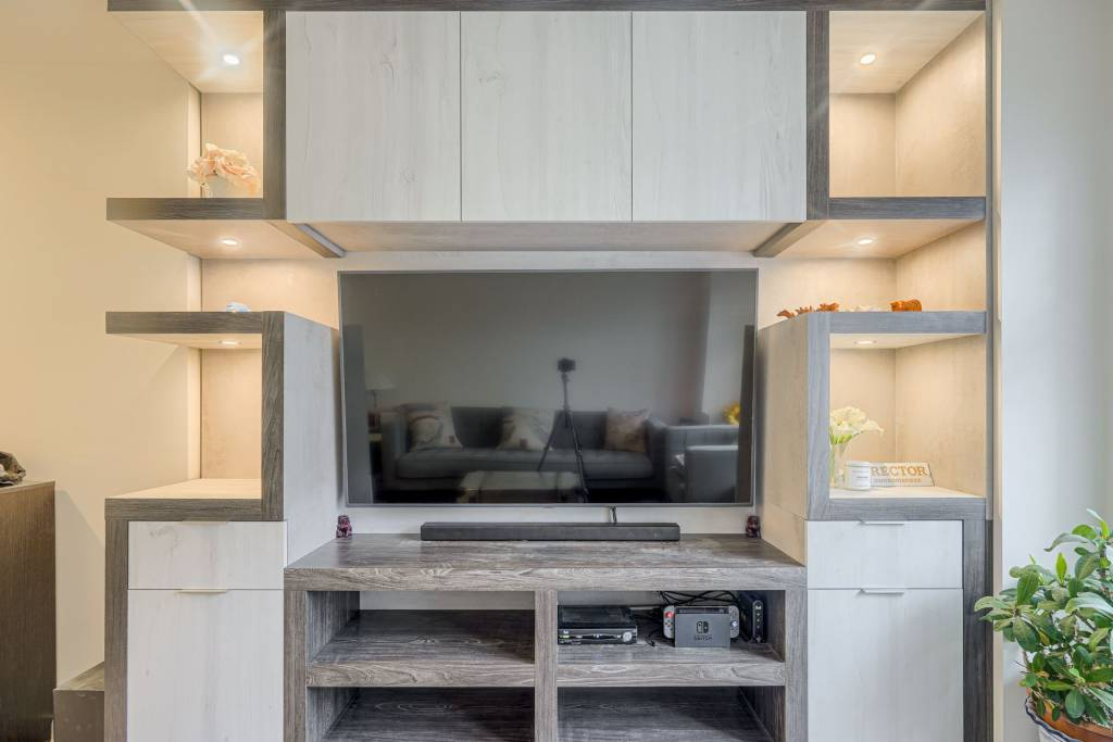 custom entertainment unit by clearview kitchens - wall units