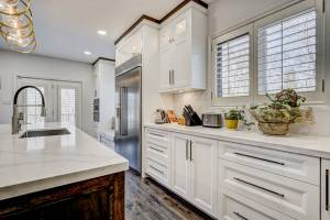 white backlit kitchen cabinets - custom kitchen renovations