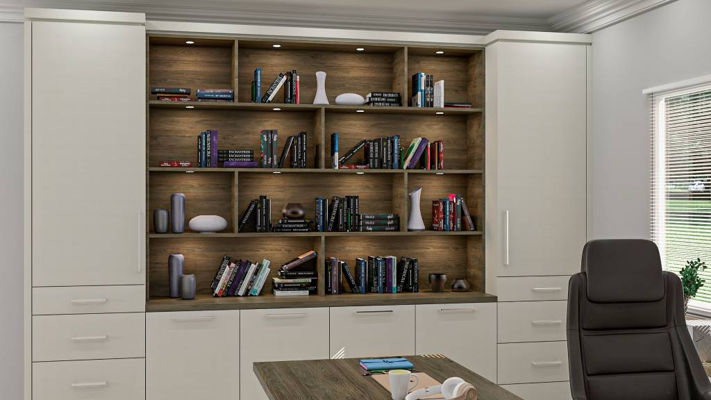 custom cabinets in amazing home office - wall units by clearview kitchens