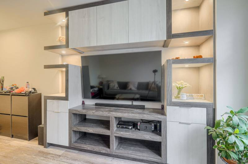 amazing entertainment unit in the living room - wall units toronto