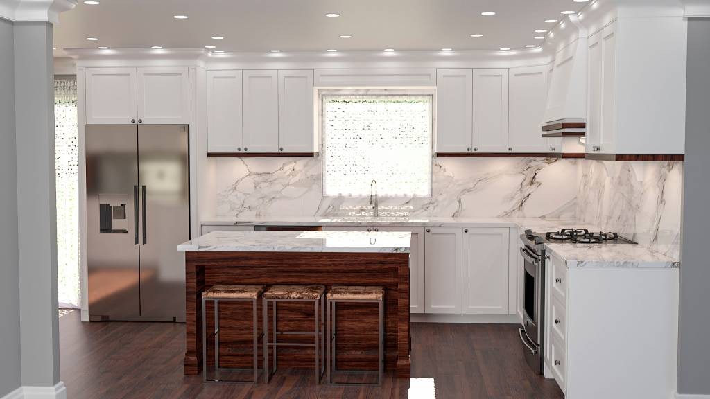 amazing L shape kitchen with island - kitchen remodeling toronto