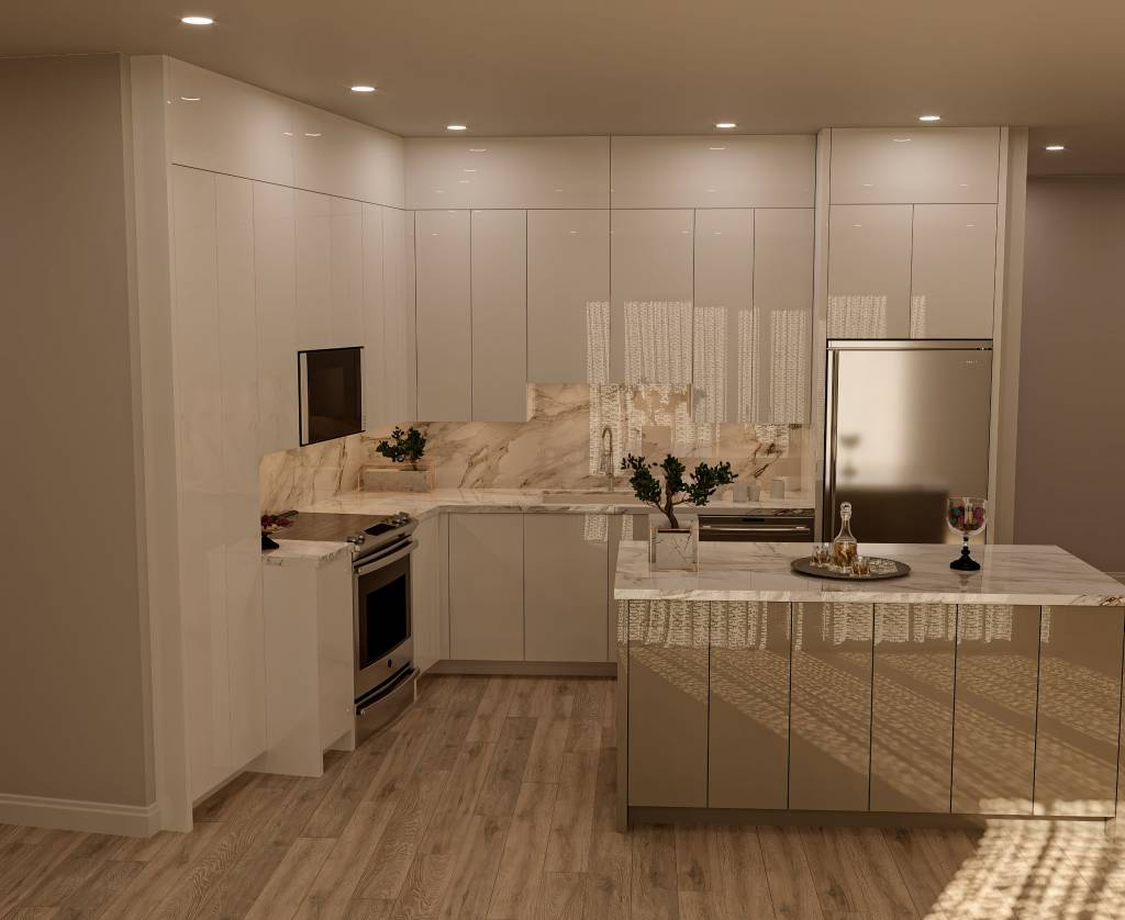 high gloss kitchen cabinets in custom kitchen by clearview kitchens - remodel my kitchen