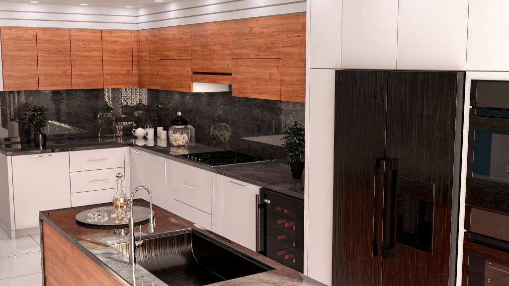modern kitchen render by clearview kitchens - kitchen refacing toronto