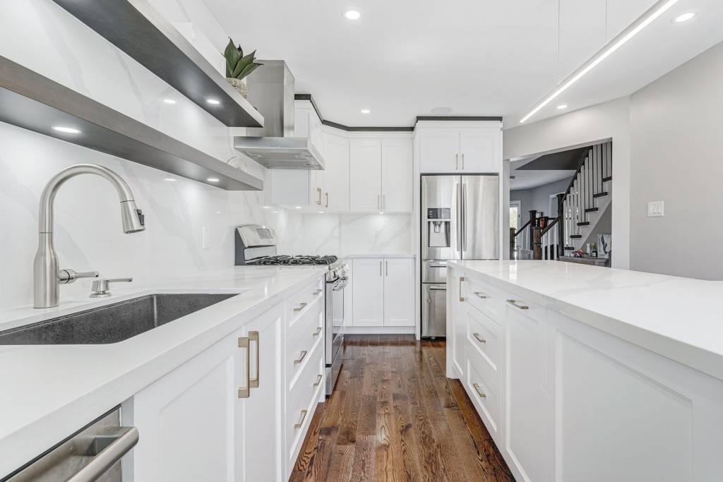 Luxury White Kitchen Renovation Project