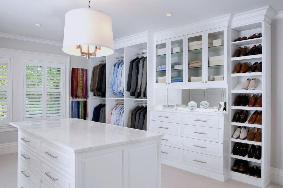 Luxury white walk in closet