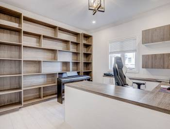 Amazing Wall Unit in Custom Home Office North York