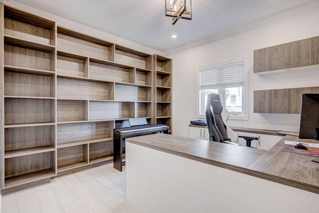 Luxury Wall Unit in Custom Home Office Richmond Hill