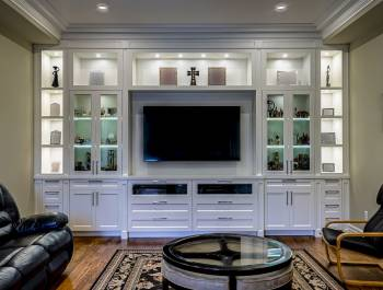 Amazing Wall Unit in Custom Family Room Mississauga