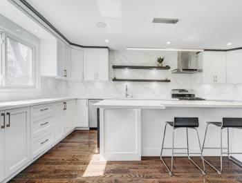 Custom White Kitchen Cabinets by Clearview Kitchens Etobicoke