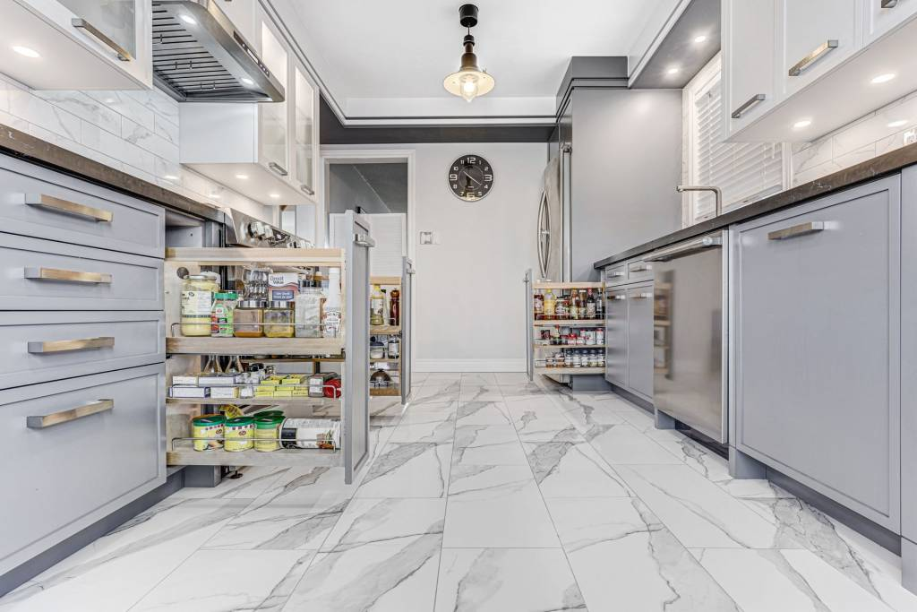 Custom Kitchen Cabinets in Kitchen Renovation Project North York