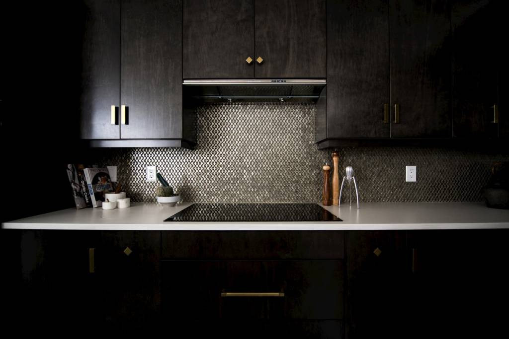 Custom Kitchen with Brown Cabinets and Marble Countertop Newmarket