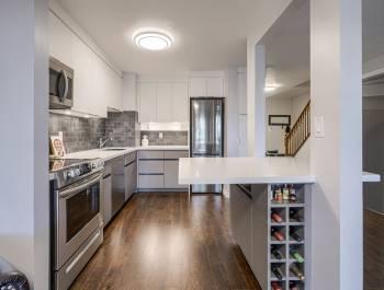 Luxury Kitchen with Build in Wine Shelves - Custom Kitchen Design North York