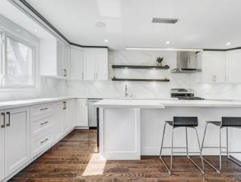 Custom Kitchen with Backlit Kitchen Cabinets - Kitchen Remodeling Vaughan