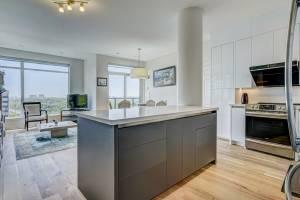 modern kitchen design in custom condo